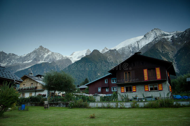 French Alpine village royalty free stock photo