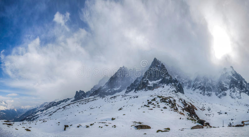 French Alps - Mont Blanc Massif II stock photos