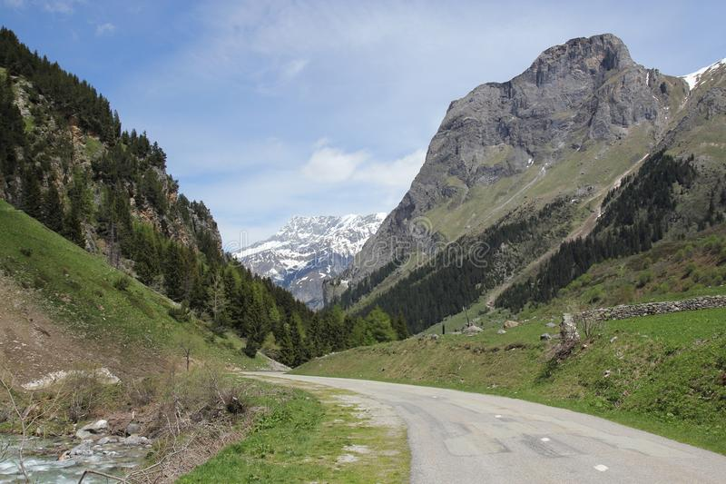 French Alps Mountain Pass stock photos