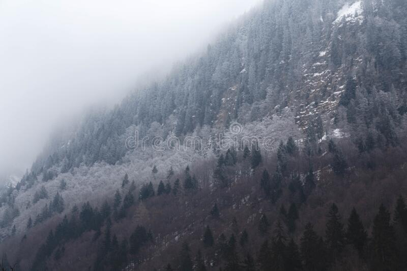 French Alps covered in snow royalty free stock photo
