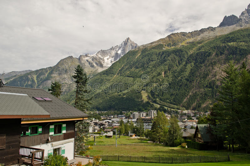 French Alps village royalty free stock photography