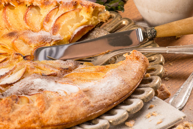 French Apple Tart stock images