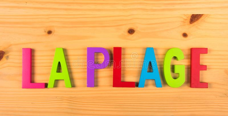 French beach la plage. French word la plage for beach royalty free stock photos