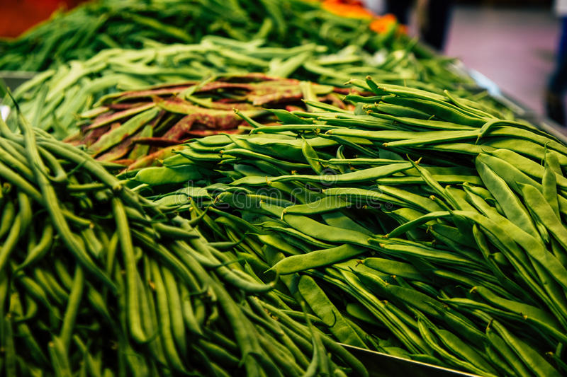 Download French Bean At The Marketplace Stock Photo - Image: 83723495