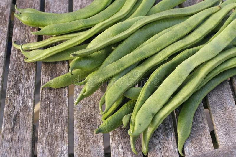 French Beans On Basket Royalty Free Stock Image