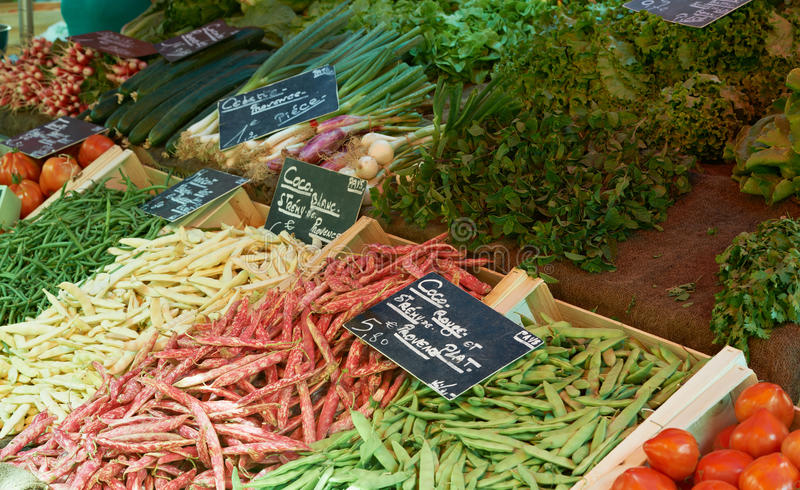 French beans at Provence market