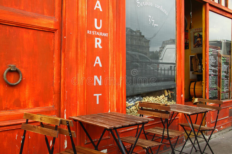 French Bistro Royalty Free Stock Images