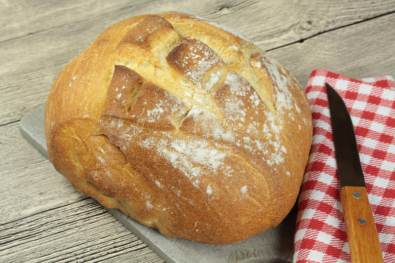 French Boule Bread Loaf royalty free stock image