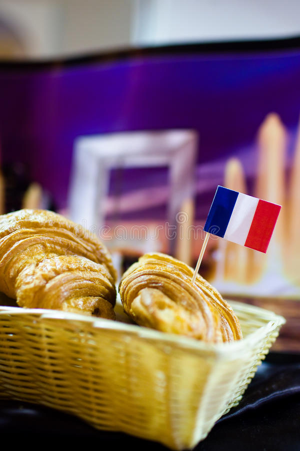 French bread. Stall with assortment of French bread stock photos