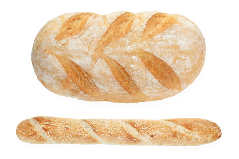 Download French bread and baguette stock image. Image of isolated - 17518273