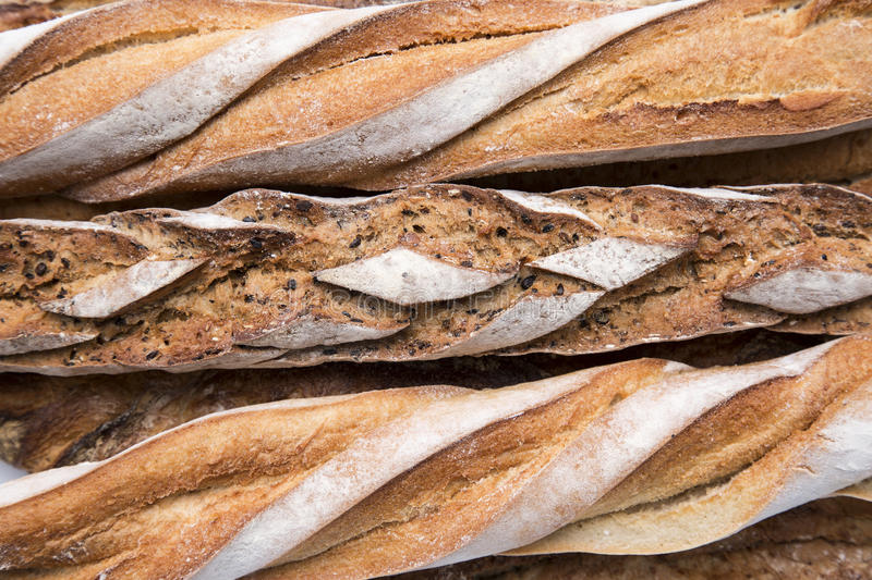 French bread texture royalty free stock photos