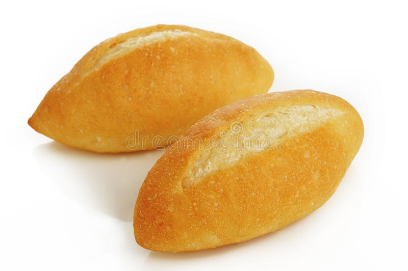 French bread. On white background stock photo