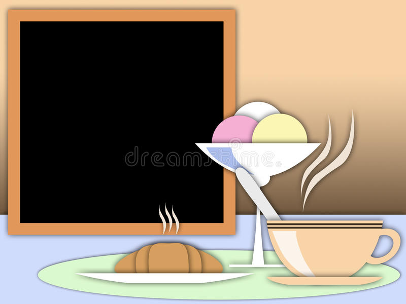 Download French breakfast stock illustration. Illustration of tradition - 25762462