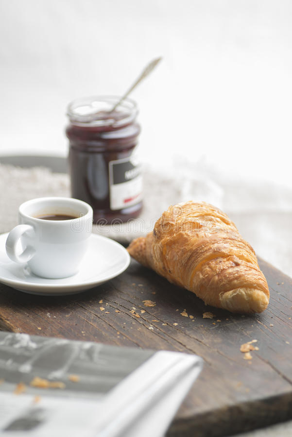 Download French breakfast stock image. Image of fresh, newspaper - 37940569