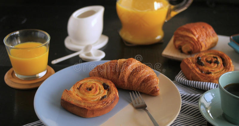 A French breakfast royalty free stock photos