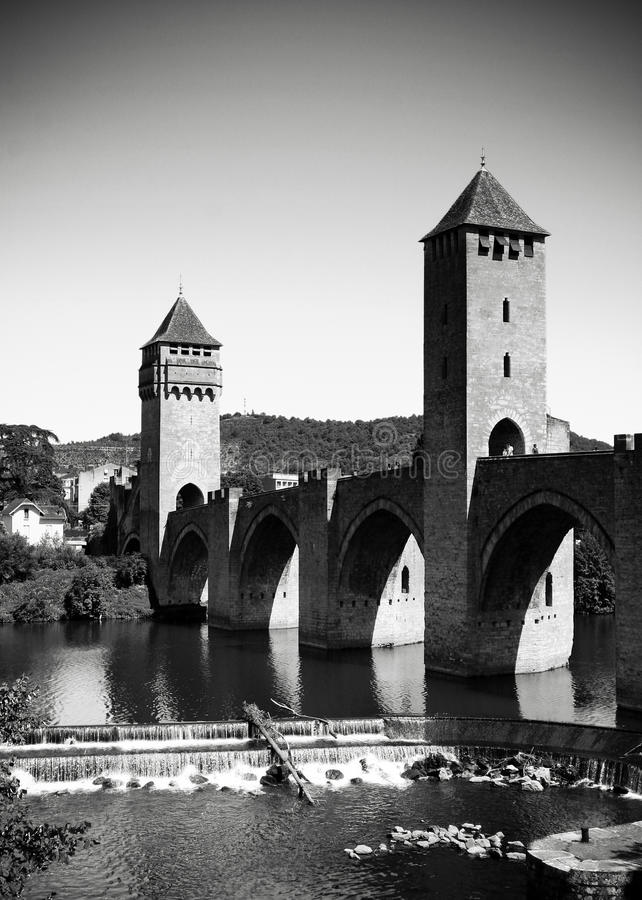 French bridge in Cahors royalty free stock photos