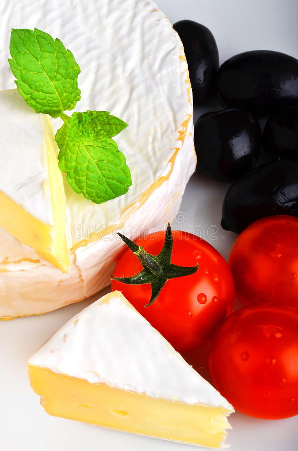 French Brie Cheese Stock Image