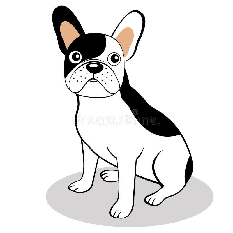 Download French bulldog stock vector. Illustration of mammal, friend - 23371997