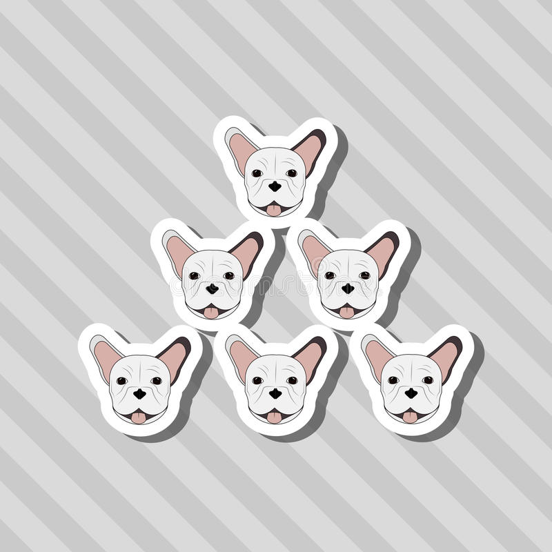 French bulldog design, pet and animal concept. French bulldog concept with icon design, vector illustration 10 eps graphic royalty free illustration