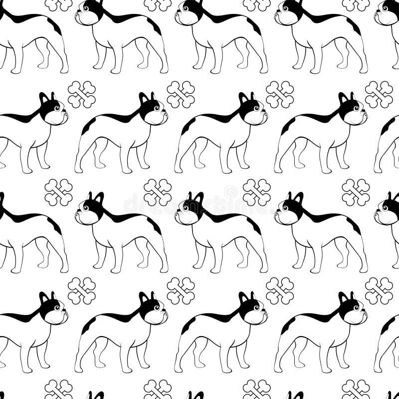 Download French bulldog pattern stock vector. Illustration of design - 23400212