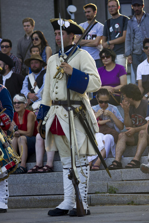 French Canadian Festival Soldier Editorial Photo