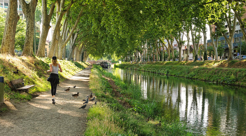 French canal royalty free stock image