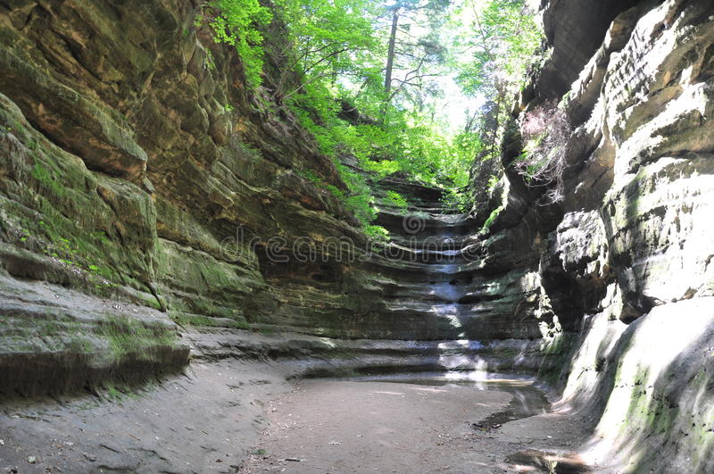 Download French Canyon At Starved Rock Stock Image - Image of scenery, geologic: 20751287