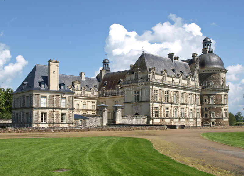 The French castle stock photo