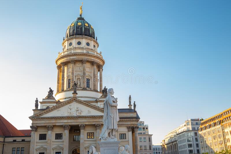 French Cathedral Franzosischer Dom at Gendarmenmarkt square in Berlin, Germany. Europe royalty free stock photos
