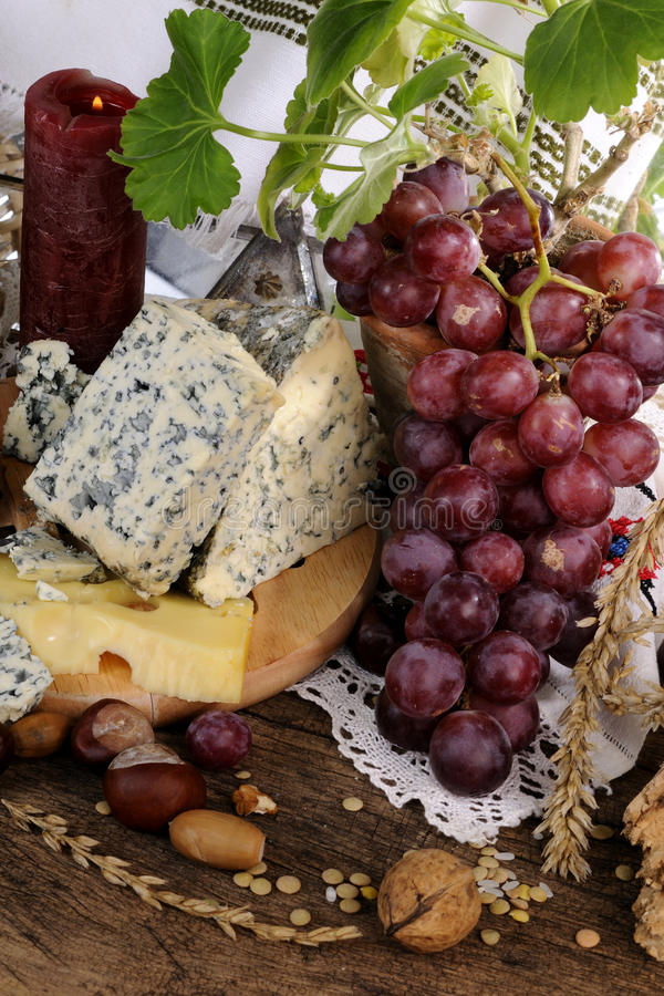 Free French Cheese, Fruits And Objects Isolated Stock Photography - 13651232