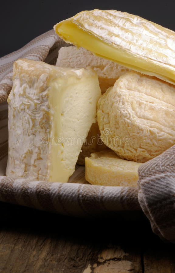 French cheese selection stock images