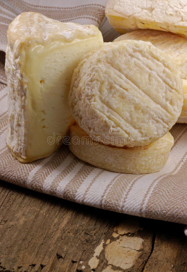 French cheese selection stock photos