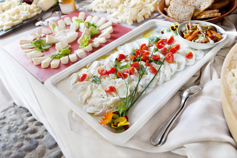 French cheese selection stock image