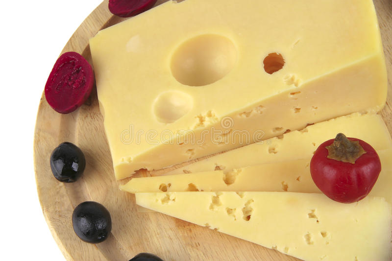 Download French Cheese Served With Olives Stock Photo - Image: 12072220