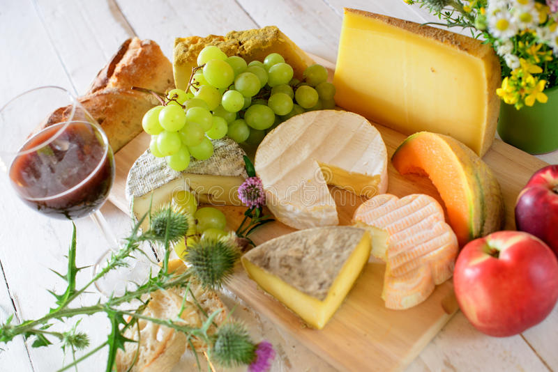 French cheese tray stock image