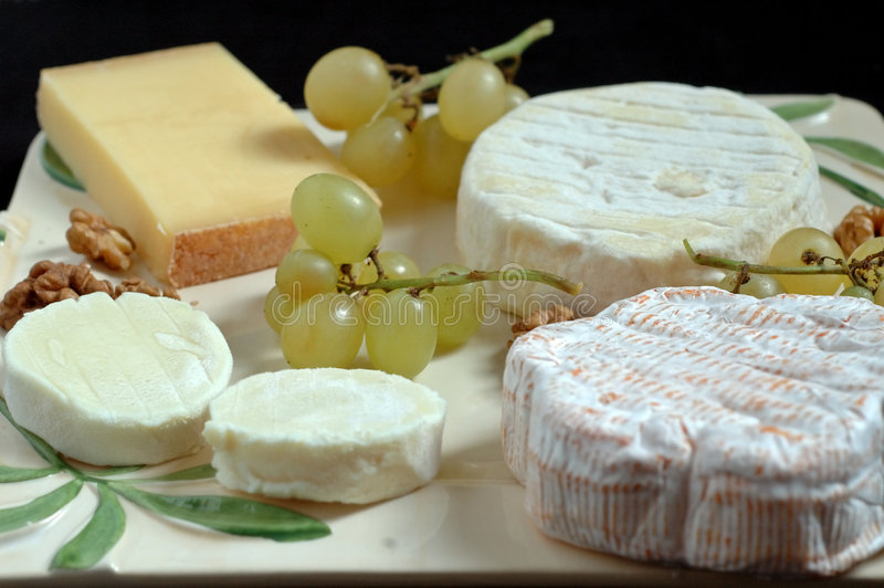French cheeseboard (detail) royalty free stock images