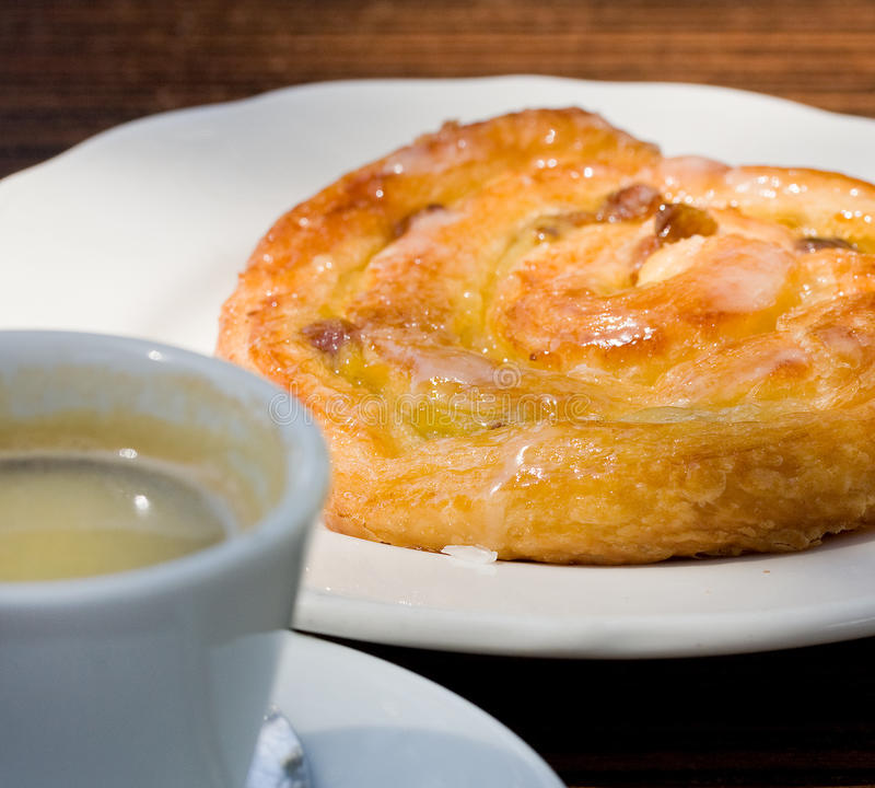 Download French Cinnamon Roll And Espresso Coffee Stock Photo - Image: 13384186