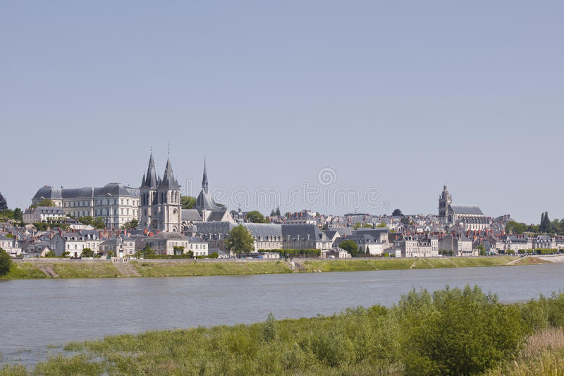French city of Blois. stock photo