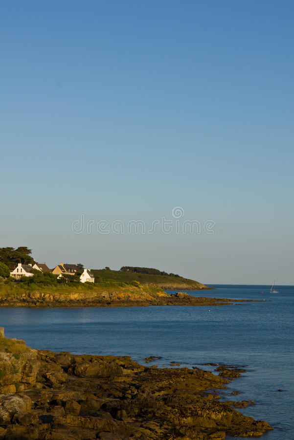 Download French coastline stock image. Image of coast, granite - 21353843