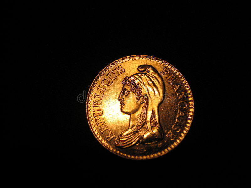 French Coin stock images