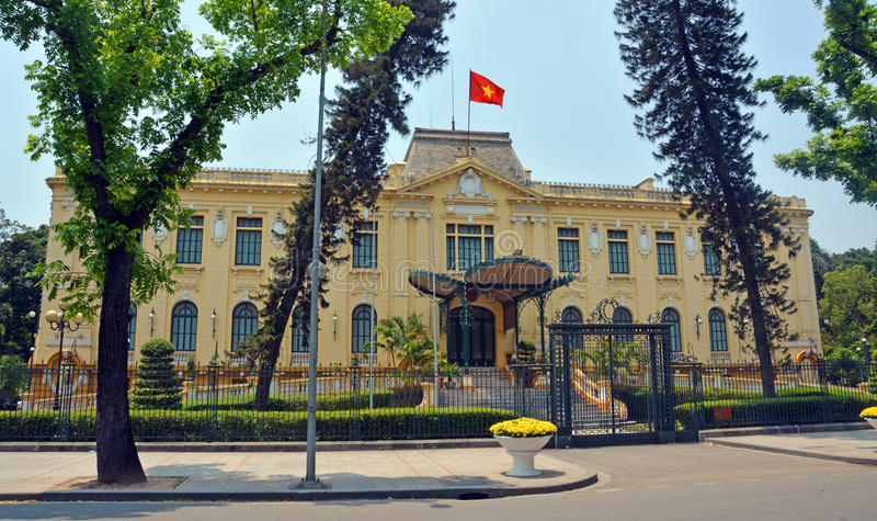 French Colonial Building in Hanoi, Vietnam stock photos
