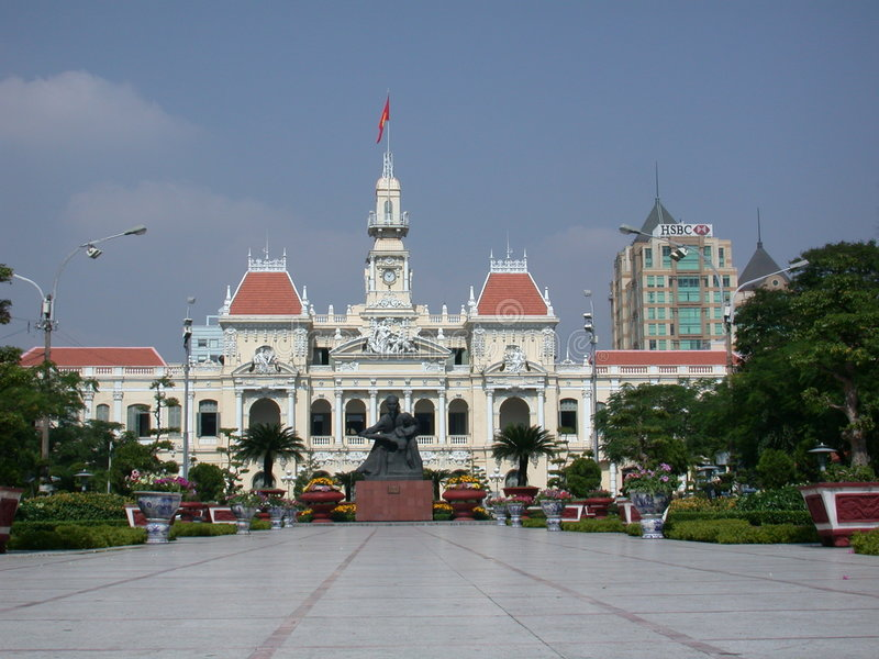 Download French Colonial Building Vietnam Stock Photo - Image: 41212