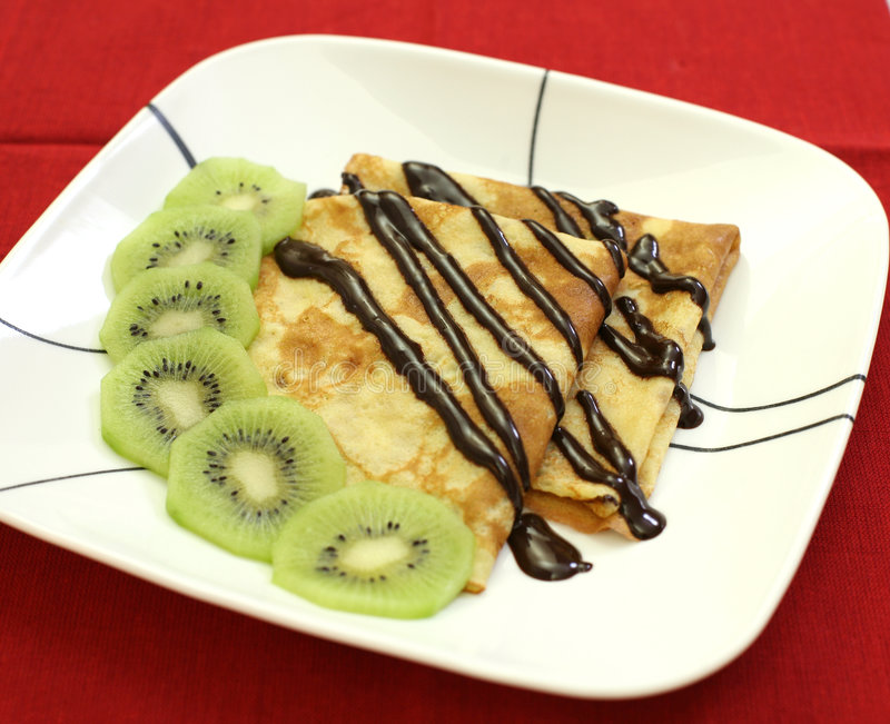 French crepes royalty free stock photos