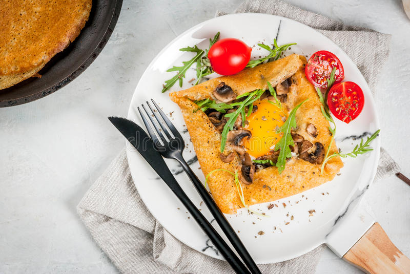 French crepes galette sarrasin royalty free stock image