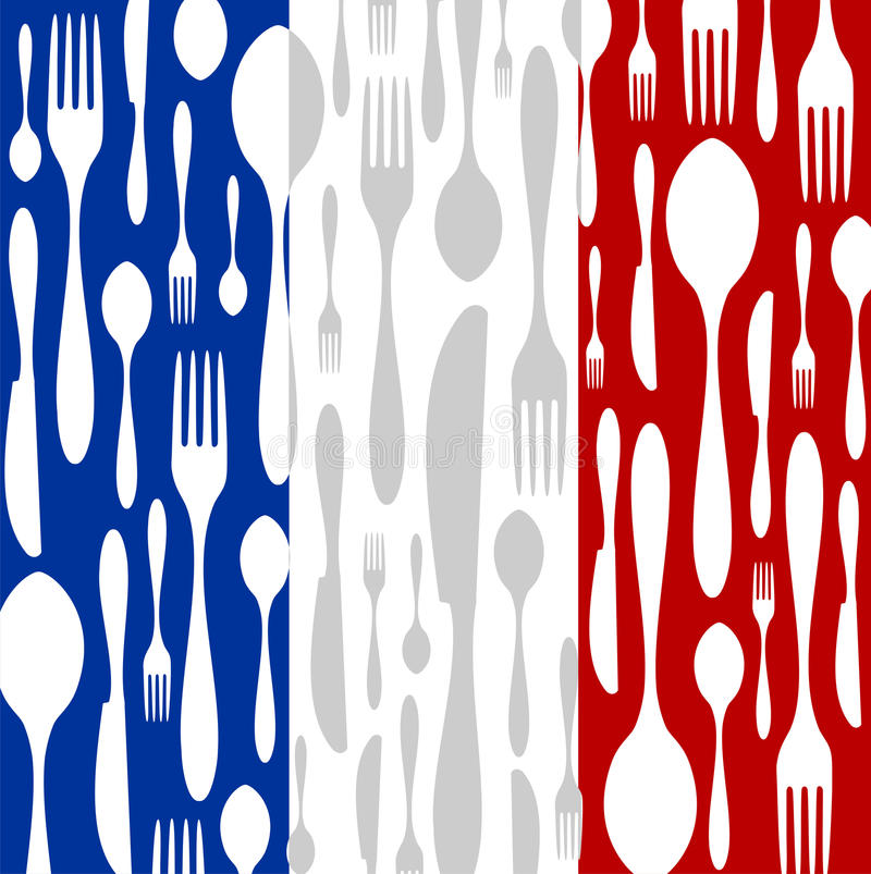 French Cuisine royalty free illustration