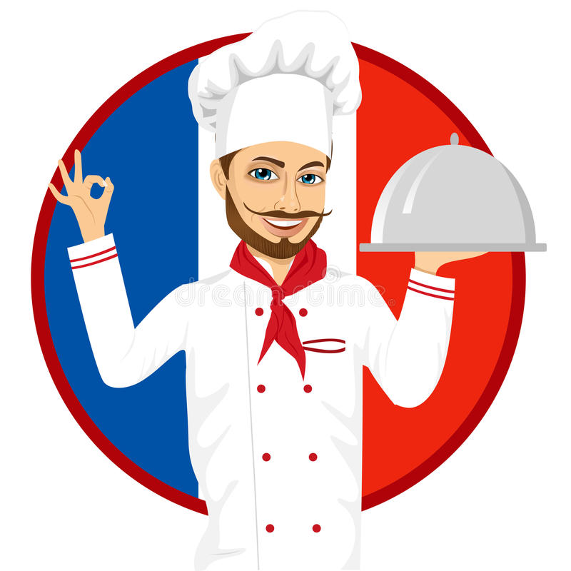 French Cuisine Chef With Funny Big Mustache Stock ...
