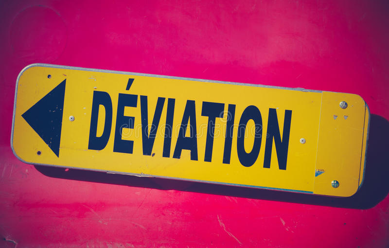 French Detour Sign stock photography