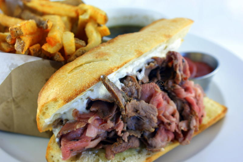 French Dip Sandwich royalty free stock photo