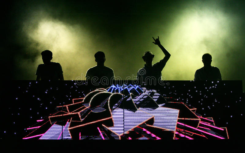 French DJ Crew's C2C royalty free stock images