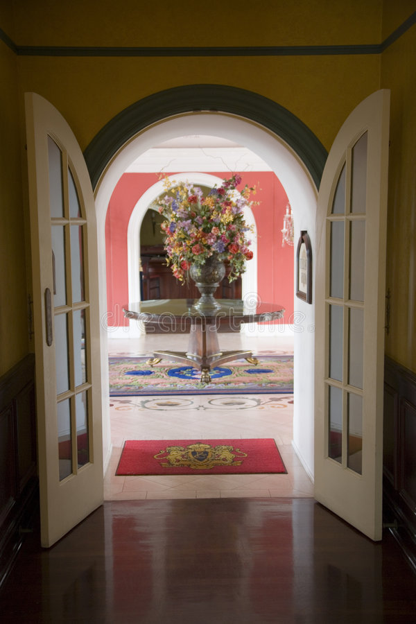 French Doors royalty free stock images